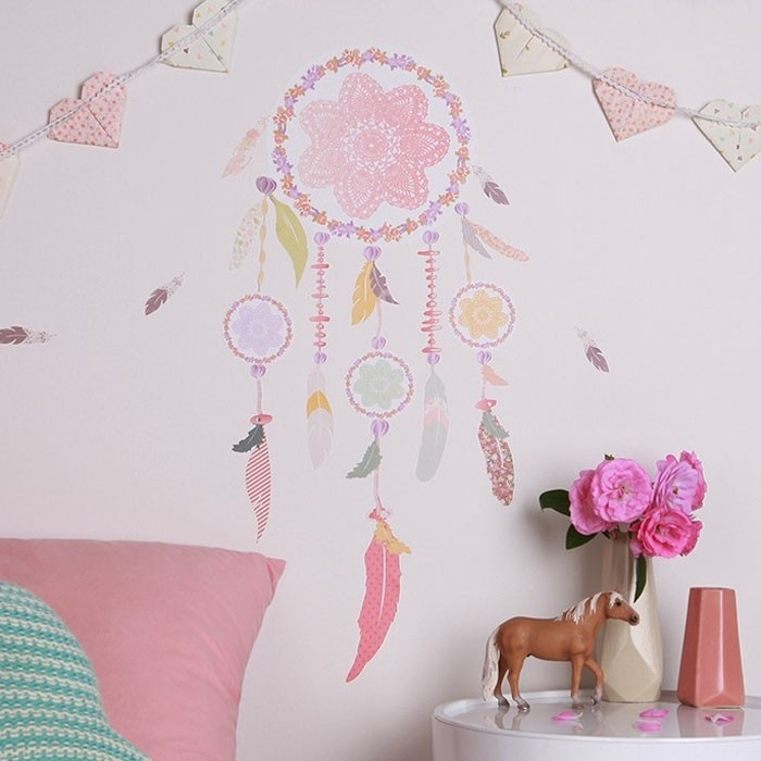 Love Mae Dreamcatcher Great Dream Catcher Wall Decal – Wall Art Intended For Dreamcatcher Fabric Wall Art (Image 10 of 15)