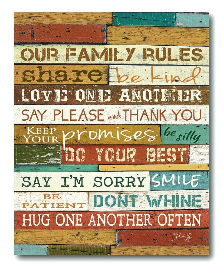 Love Rules Wall Art Market Family Wrapped Canvas Family Rules Love Throughout Canvas Wall Art Family Rules (View 4 of 15)