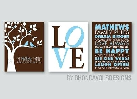 Love Rules Wall Art Wallets A Love This Black White Family Rules Intended For Canvas Wall Art Family Rules (View 12 of 15)