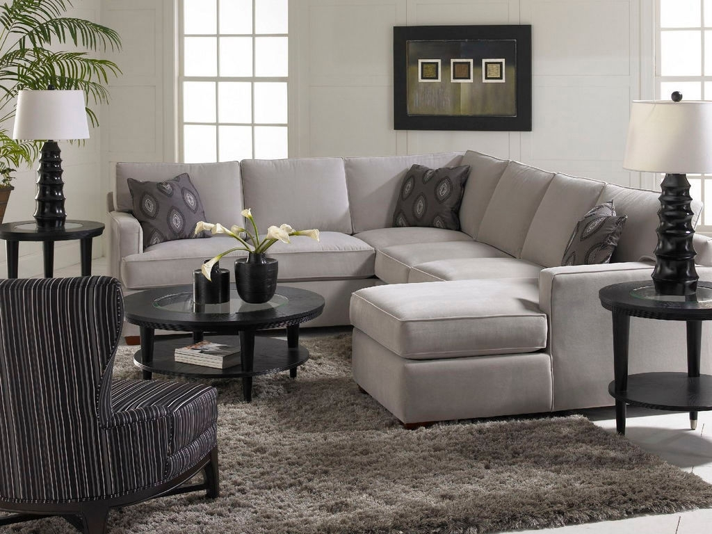 Love The Accent Pillows And The Simplicity Of The Gray Living Room Throughout North Carolina Sectional Sofas (Image 5 of 10)