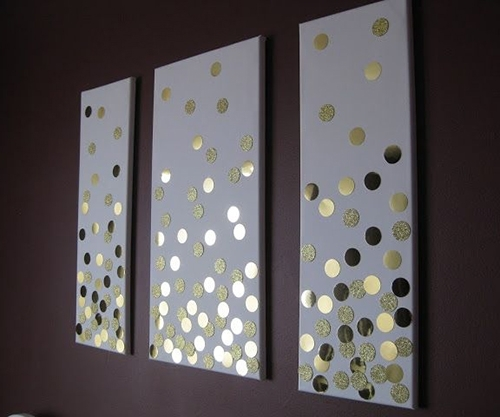 Love The Simple Circles But Would Have The 3 Colours I Am Using With Homemade Canvas Wall Art (Image 14 of 15)
