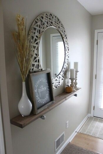 Love This Entryway Decor! My Entry Is Too Narrow For A Chest Or Regarding Wall Accents For Narrow Room (Image 12 of 15)