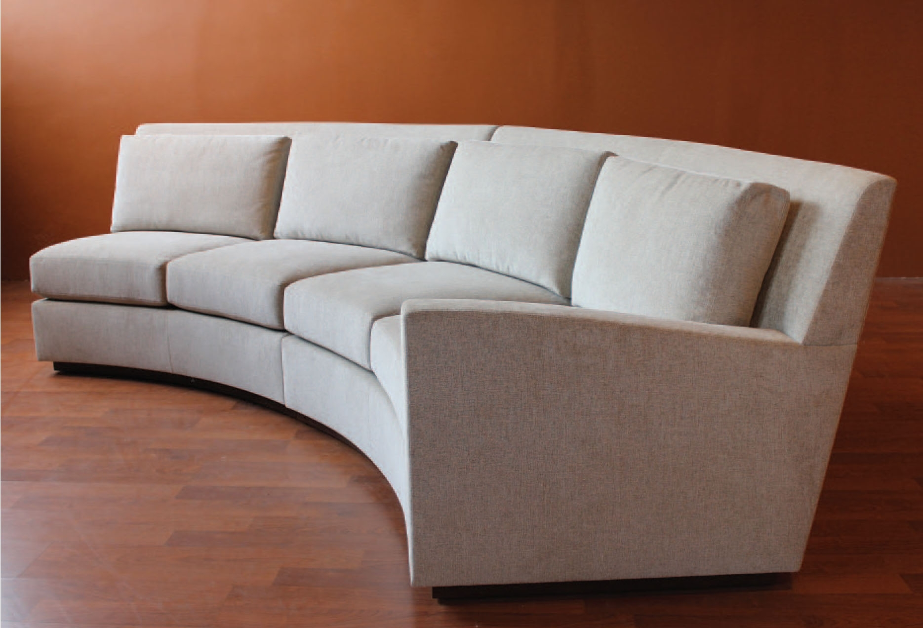 Loveseat : Curved Sectional Sofas For Small Spaces Loveseat Styles Intended For Rounded Sofas (Image 6 of 10)