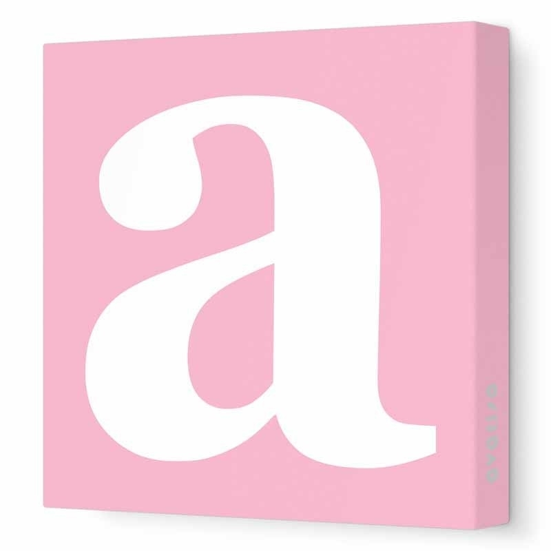 Lower Case Letter Canvas Wall Artavalisa – Rosenberryrooms For Letters Canvas Wall Art (View 4 of 15)