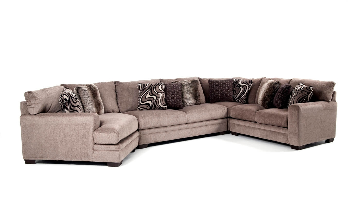 Luxe 4 Piece Sectional With Cuddler Chaise | Bob's Discount Furniture With Regard To Sectional Sofas With Cuddler Chaise (View 6 of 10)