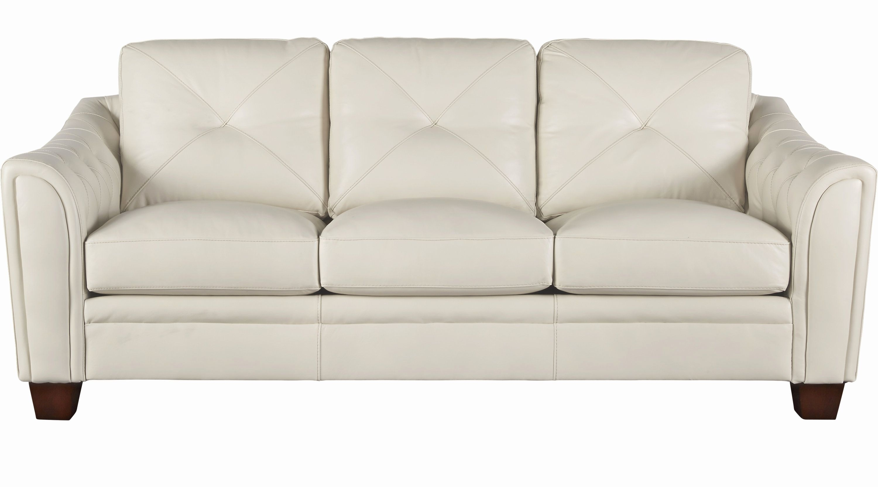 Luxury Ivory Leather Sofa Photographs 888 00 Marcella Ivory Off Pertaining To Off White Leather Sofas (View 8 of 10)