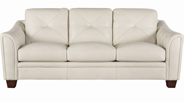 Luxury Ivory Leather Sofa Photographs 888 00 Marcella Ivory Off Pertaining To Off White Leather Sofas (Image 4 of 10)