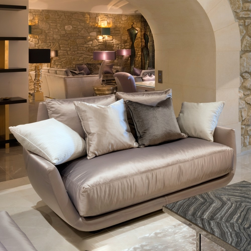 Luxury Modern Two Seater Sofa | Juliettes Interiors In Luxury Sofas (Image 5 of 10)