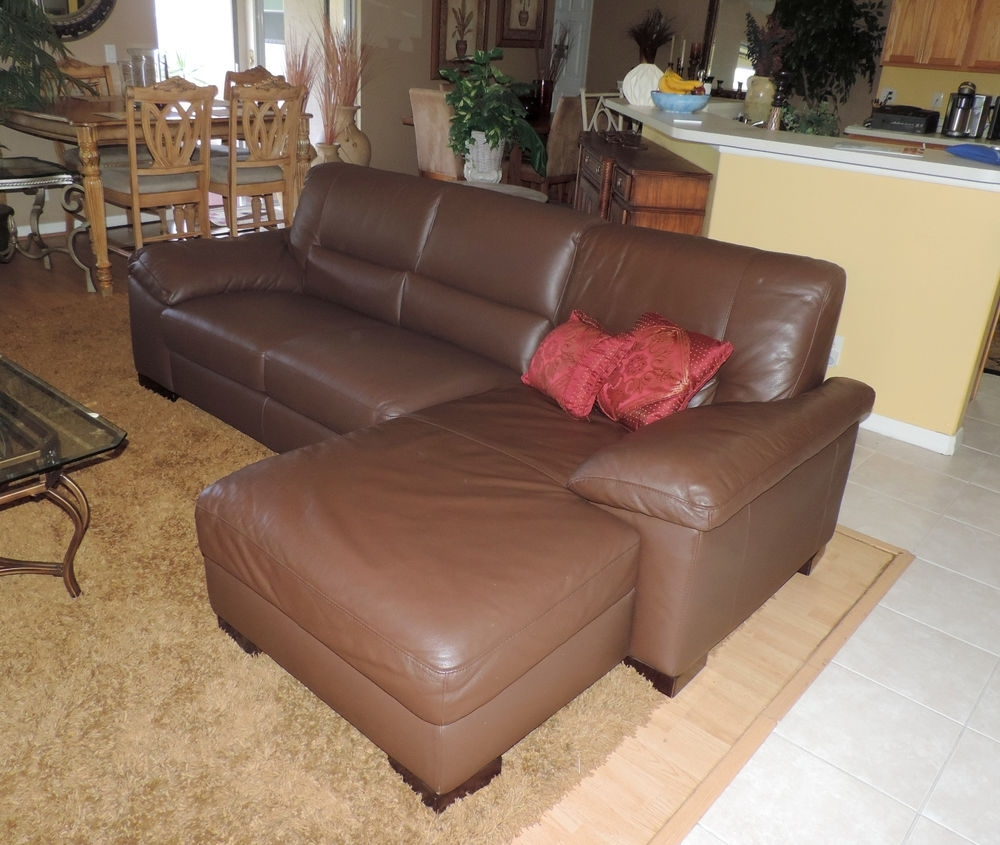 Macy's Italsofa Two Piece Chocolate Leather Sectional Sofa*we Ship With Regard To Macys Leather Sectional Sofas (Image 4 of 10)