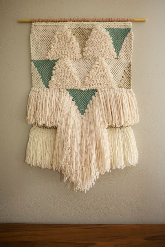 Made To Order For Rebecca | Fiber Art, Tapestry And Boho With Woven Fabric Wall Art (Image 8 of 15)