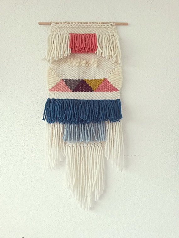 Made To Order: Hand Woven Wall Hanging, Woven Tapestry | Woven Regarding Woven Textile Wall Art (Image 7 of 15)