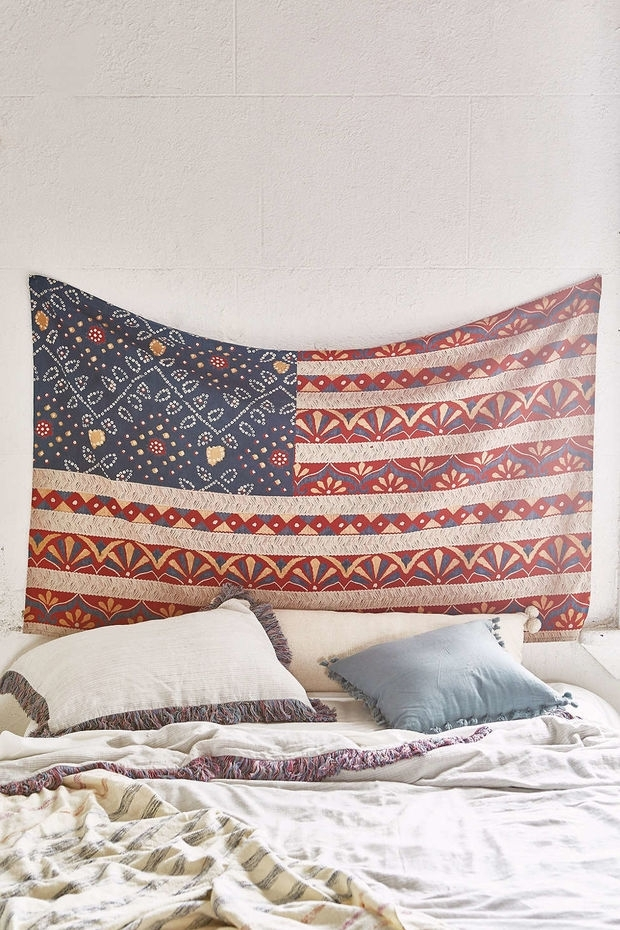 Magical Thinking Bandhani Americana Tapestry – Urban Outfitters Intended For Fabric Wall Art Urban Outfitters (Image 6 of 15)