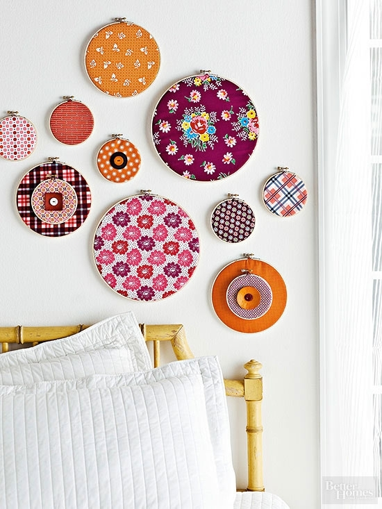Make Crafts With Paper, Paint, And Fabric With Fabric Circle Wall Art (Image 15 of 15)