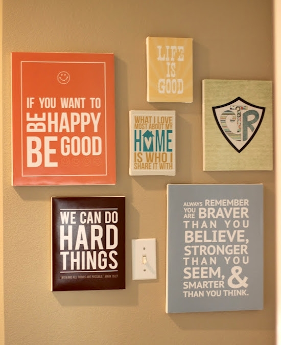 Make Diy Quote Art On Canvas – Mod Podge Rocks Throughout Canvas Wall Art Quotes (Image 9 of 15)