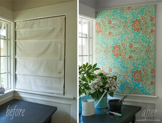 Make Easy Diy Art With A Canvas Stretcher Frame And Pretty Fabric With Ikat Fabric Wall Art (Image 14 of 15)