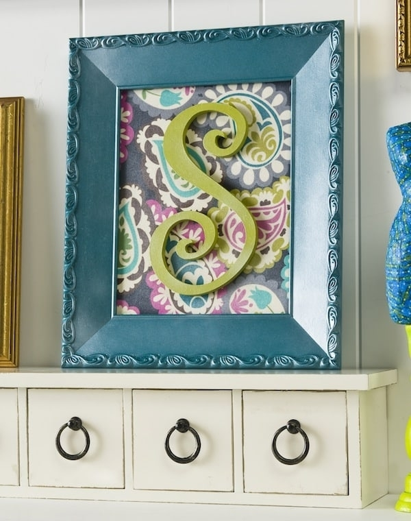 Make Easy Initial Wall Art – Mod Podge Rocks Intended For Mod Podge Fabric Wall Art (Image 6 of 15)