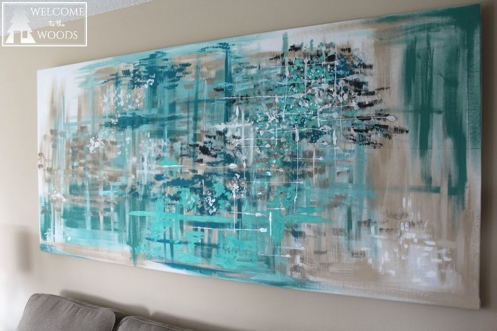 Make Large Canvas Wall Art For $14 | Large Canvas Wall Art, Large Within Blue Canvas Wall Art (View 15 of 15)