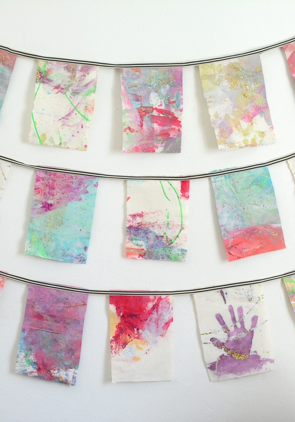 Make Wall Hangings From Your Child's Artwork – Meri Cherry In Childrens Fabric Wall Art (View 4 of 15)