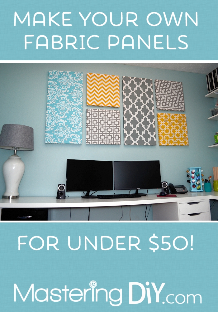 Make Your Own Fabric Panels | Fabric Panels, Fabrics And 50Th With Regard To Fabric Wrapped Styrofoam Wall Art (View 15 of 15)