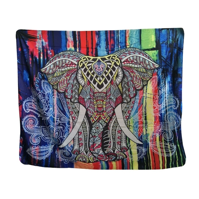 Mandala Bohemian Style Ganesha Colorful Thailand Elephant Tapestry With Regard To Thai Fabric Wall Art (View 11 of 15)