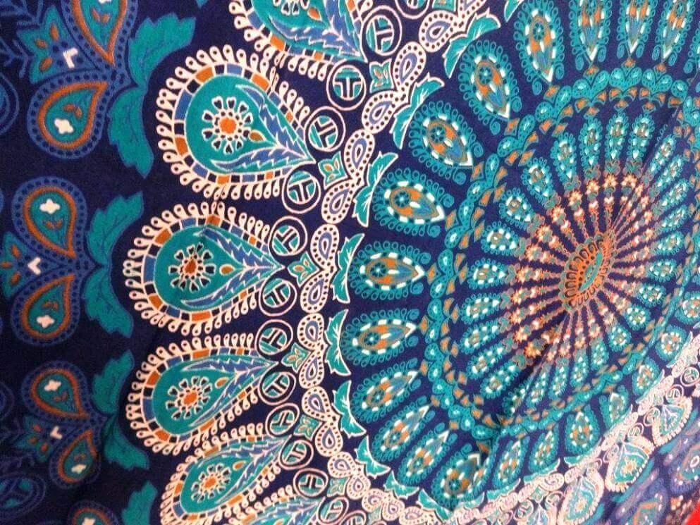 Mandala Tapestry Wall Hangings This Beautiful Mandala Tapestry Pertaining To Indian Fabric Wall Art (View 15 of 15)