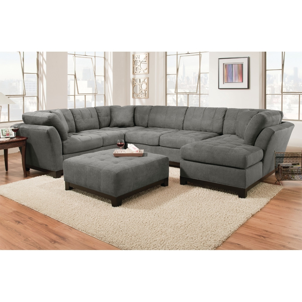 Manhattan Sectional – Sofa, Loveseat & Rsf Chaise – Slate With El Paso Texas Sectional Sofas (View 6 of 10)