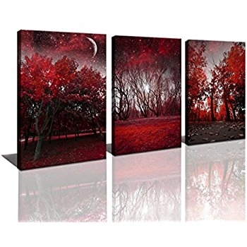 Manificent Decoration Tree Canvas Wall Art Parade Of Red Trees With Regard To Jcpenney Canvas Wall Art (Image 13 of 15)