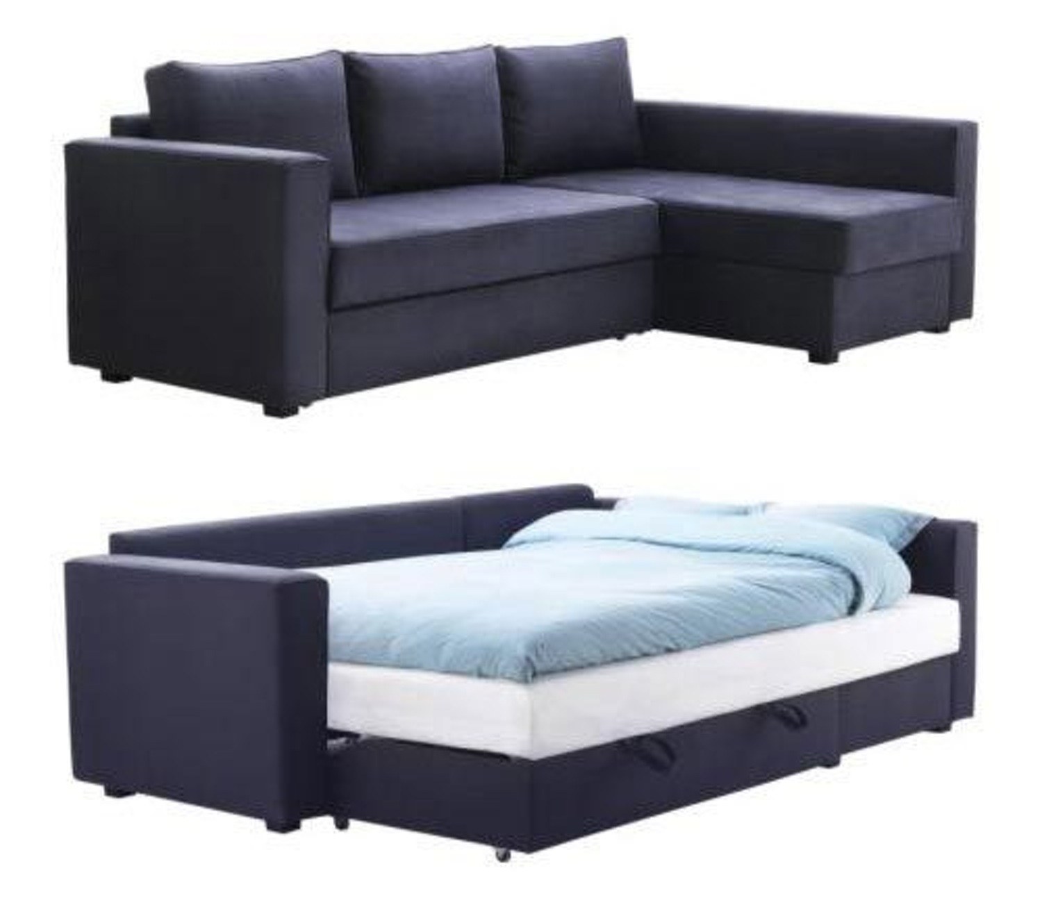 Manstad Sectional Sofa Bed & Storage From Ikea | Sofa Sleeper, Bed Pertaining To Sectional Sofas At Ikea (View 7 of 10)