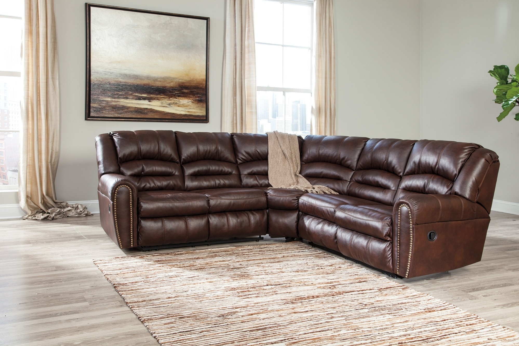 Manzanola Chocolate 2 Piece Sectional Sofa For $1, (Image 9 of 10)