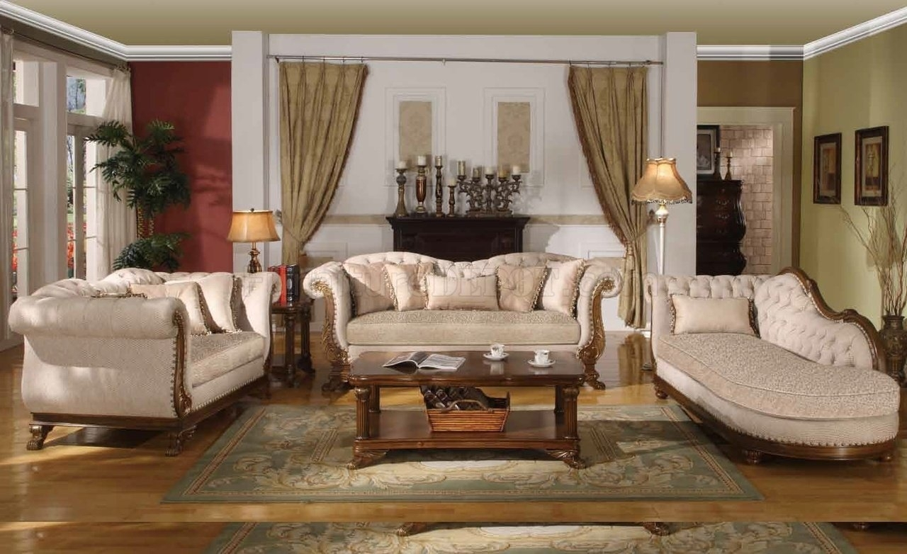 Marcia Traditional Sofa In Fabric W/optional Items Throughout Traditional Sofas (Image 6 of 10)