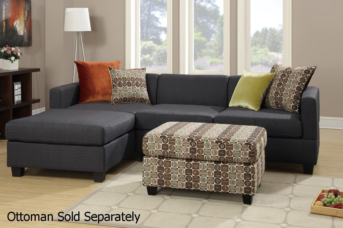 Maribel Black Fabric Sectional Sofa – Steal A Sofa Furniture Outlet In Los Angeles Sectional Sofas (View 9 of 10)