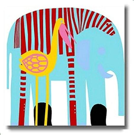 Marimekko Elephant Panel – Google Search | Baby Stuff | Pinterest Within Marimekko 'karkuteilla' Fabric Wall Art (View 5 of 15)