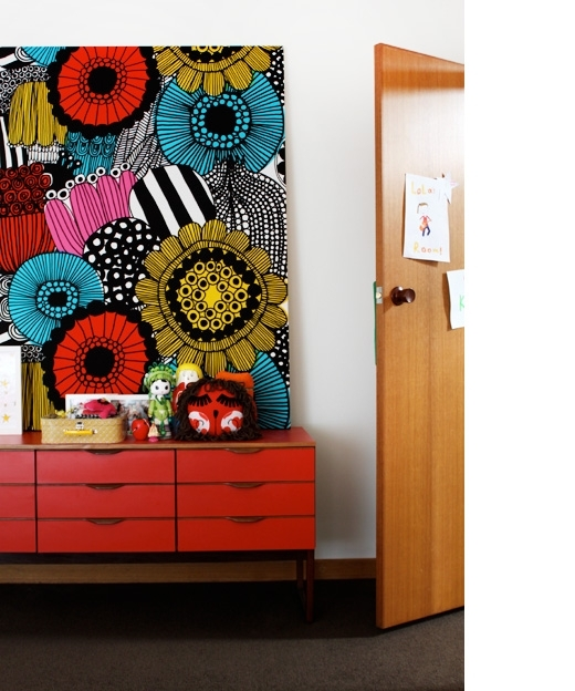 Marimekko Fabric On Wall Makes A Fantastic Piece Of Art And Intended For Scandinavian Fabric Wall Art (Image 9 of 15)
