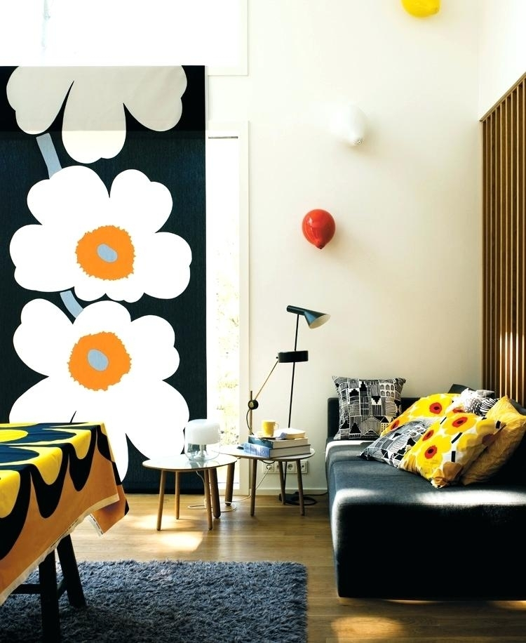 Featured Photo of Marimekko 'kevatjuhla' Fabric Wall Art