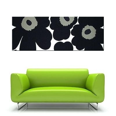 Marimekko Fabric Wall Art Fabric Wall Art In Black Khaki And White In Marimekko Stretched Fabric Wall Art (Image 11 of 15)