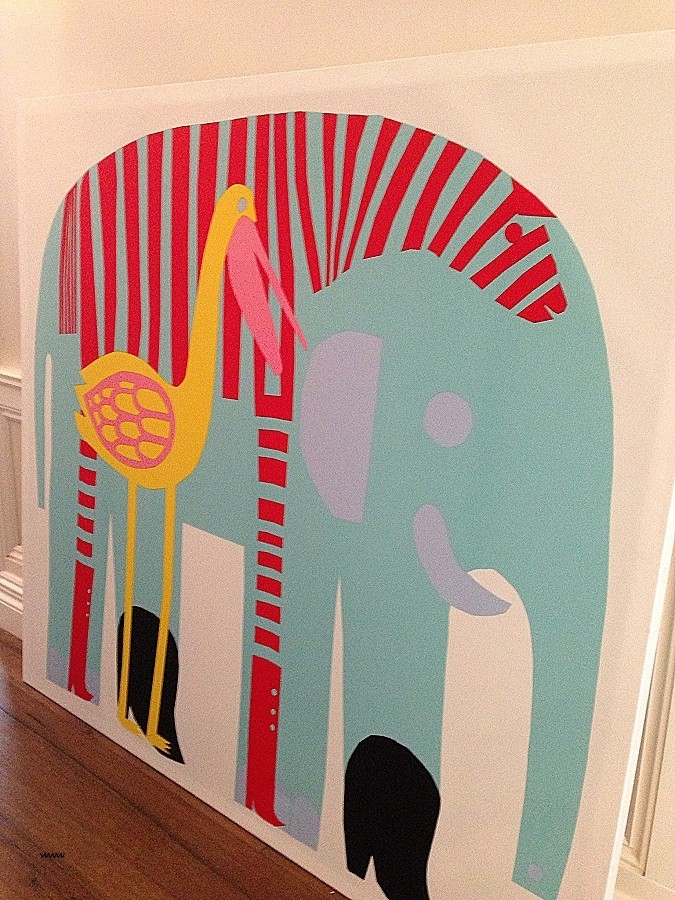 Marimekko Fabric Wall Art Fresh Marimekko Elephant Print For The Inside Elephant Fabric Wall Art (Image 12 of 15)
