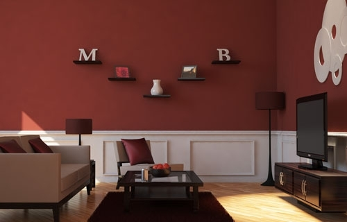 Maroon Living Room | Style – Interior Design – Color Scheme Intended For Maroon Wall Accents (View 4 of 15)