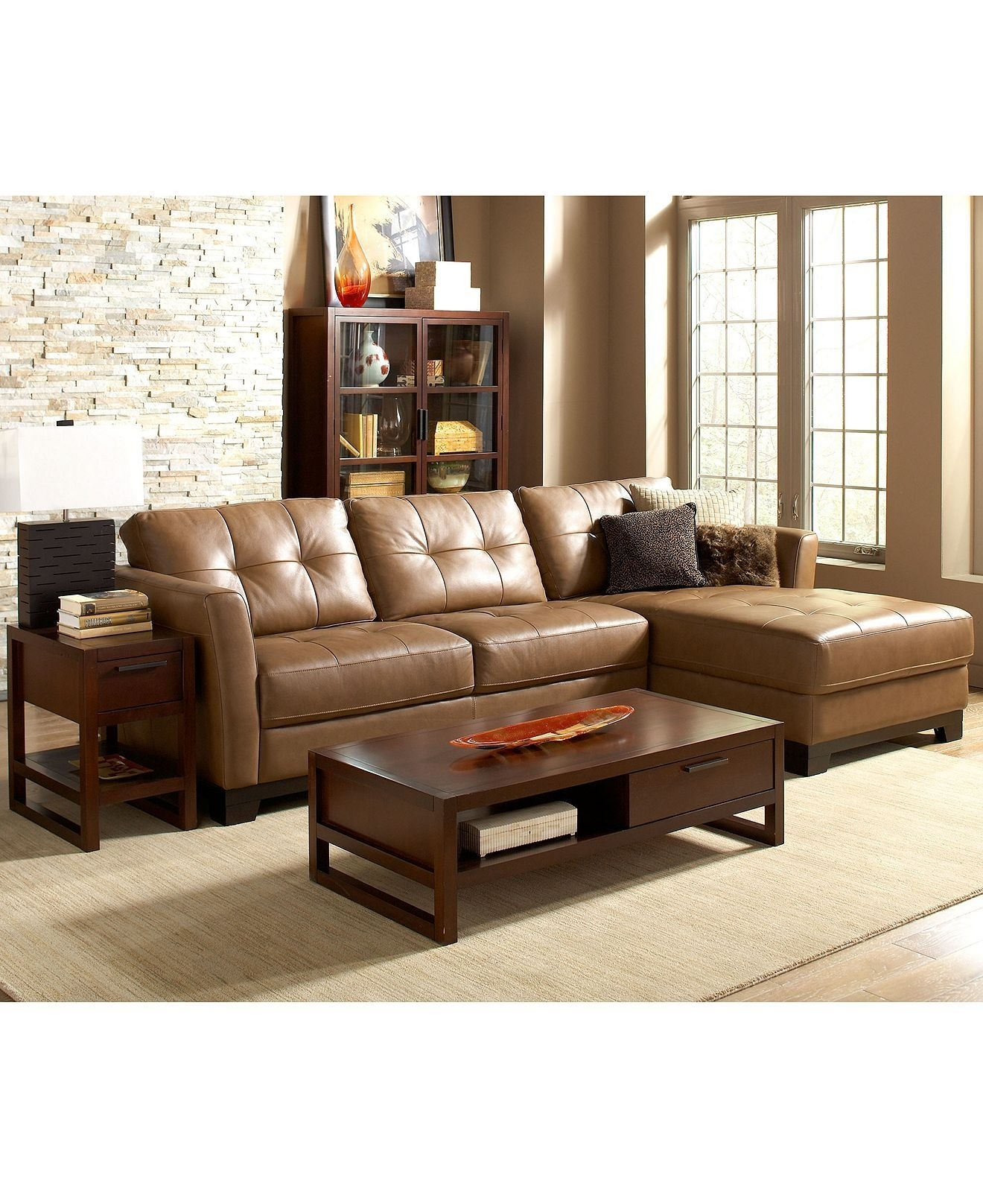 Martino Leather Sectional Living Room Furniture Sets & Pieces Regarding Economax Sectional Sofas (View 4 of 10)