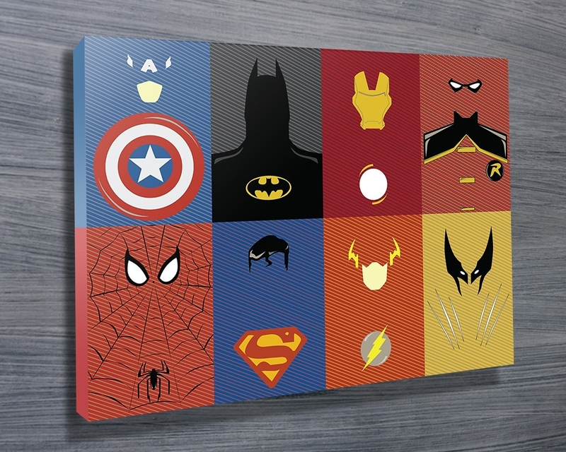 Marvel Characters Wall Art On Canvas Brisbane In Marvel Canvas Wall Art (Image 10 of 15)