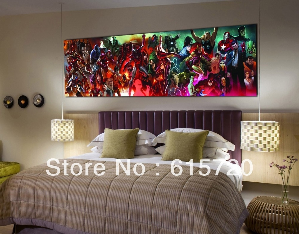 Marvel Comics New Avengers Iron Man 3 Fine Art Prints Giclee On With Marvel Canvas Wall Art (View 10 of 15)