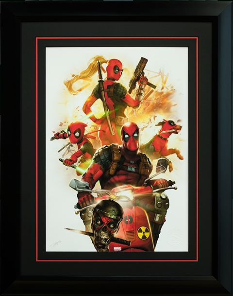 Marvel Deadpool Corps Premium Art Printsideshow Collecti Within Framed Comic Art Prints (View 11 of 15)