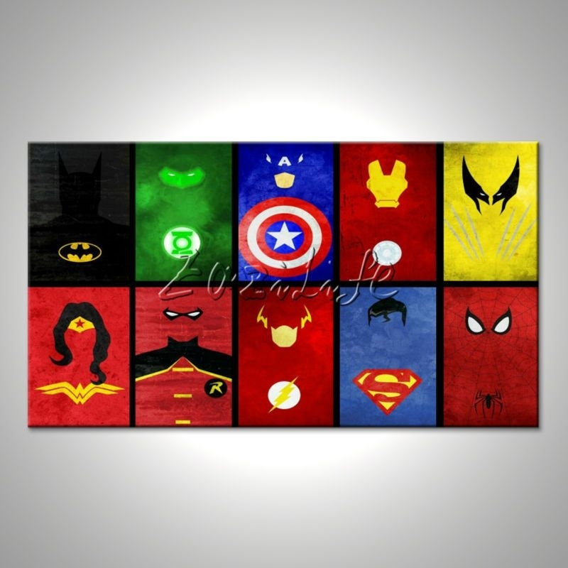 Marvel Prints Comics Pictures For Walls Avengers Painting Super Throughout Marvel Canvas Wall Art (Image 13 of 15)
