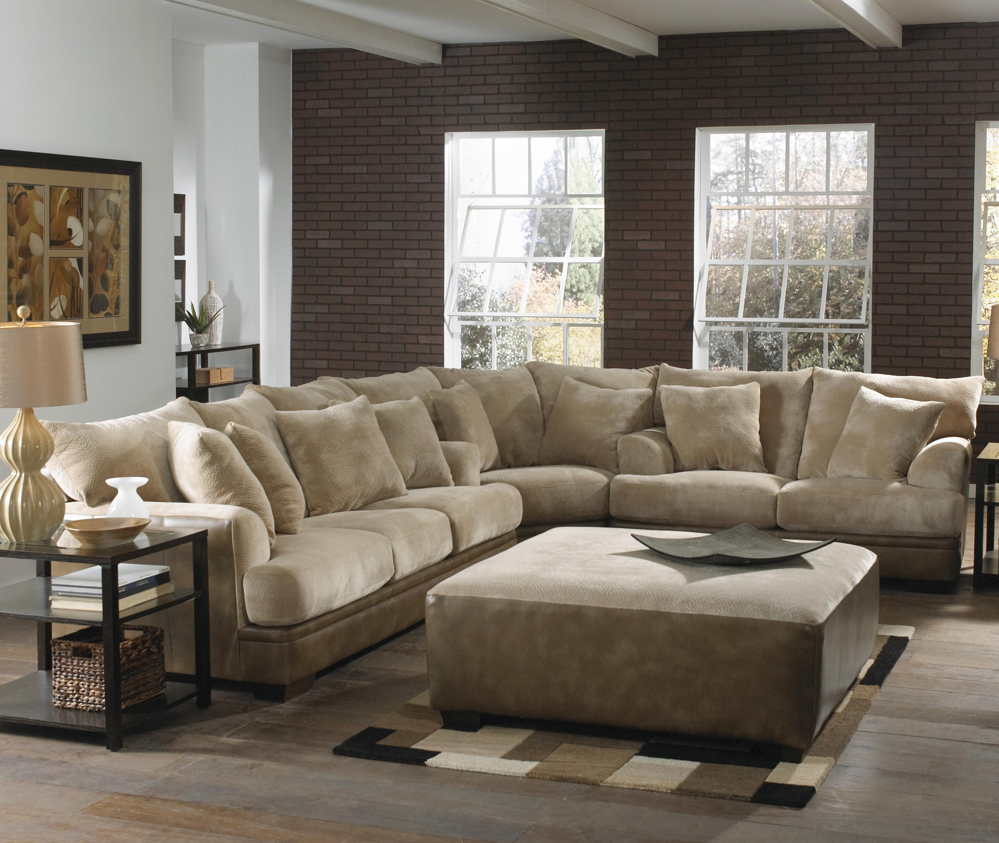 Marvelous Large Sectional Sofa With Ottoman For Your Sofas Amazing Regarding Sectional Couches With Large Ottoman (View 7 of 10)