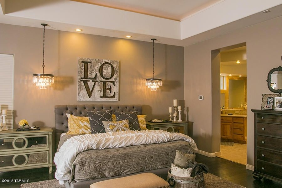Master Bedroom With Carpet & Pendant Light In Oro Valley, Az Pertaining To Masters Canvas Wall Art (View 13 of 15)
