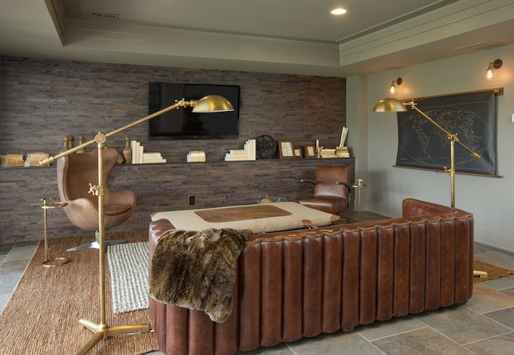 Maxime Leather Sofa – Transitional – Media Room – Rh Homes With Regard To Wall Accents For Media Room (Image 7 of 15)
