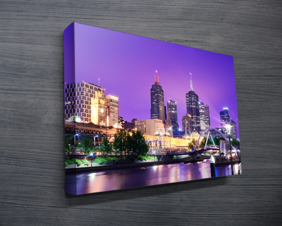 Melbourne Cityscape Canvas Print – Canvas Prints Australia Throughout Melbourne Canvas Wall Art (View 12 of 15)