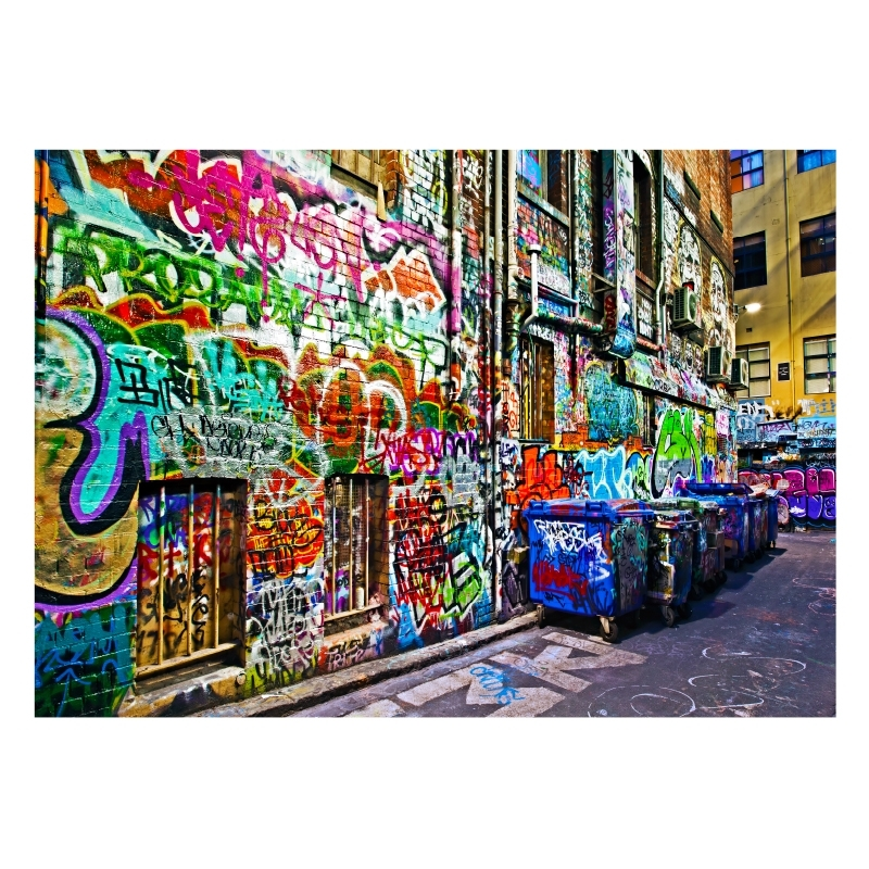 Melbourne Graffiti Laneway | Stretched Canvas/ Printed Panel | The With Graffiti Canvas Wall Art (Image 11 of 15)