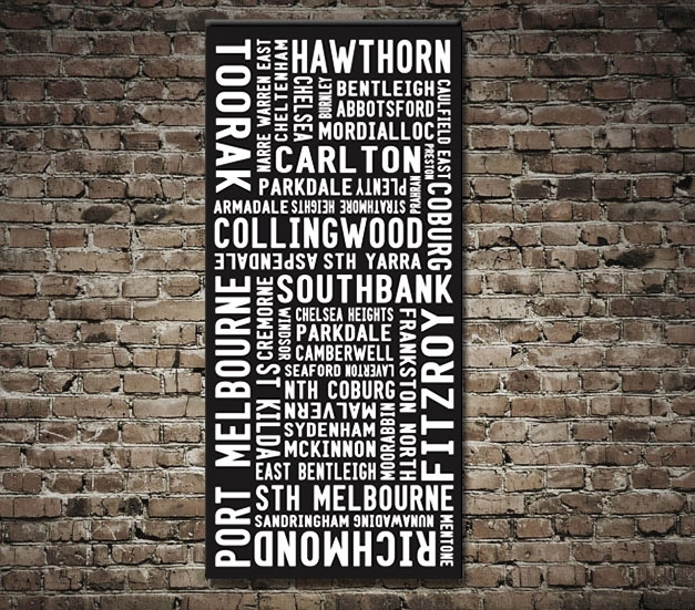 Melbourne Modern Destination Print – Canvas Prints Australia With Regard To Canvas Wall Art In Melbourne (View 4 of 15)