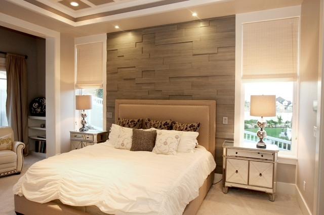 Melissa Wright Parade Home – Contemporary – Bedroom – Salt Lake Throughout Wall Accents Behind Bed (View 1 of 15)
