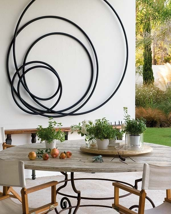 Metal Decor Large Metal Wall Art Metal Wall Art Decor Metal Flower Pertaining To Abstract Outdoor Wall Art (View 11 of 15)